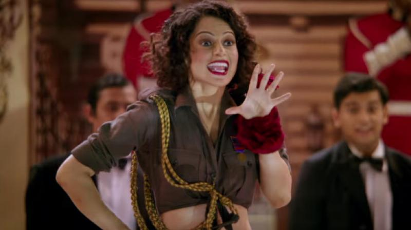Kangana in the song 'Bloody Hell' from the film.