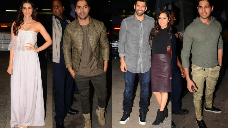 The makers of 'OK Jaanu' held a screening for film industry celebrities on Wednesday. (Photo: Viral Bhayani)