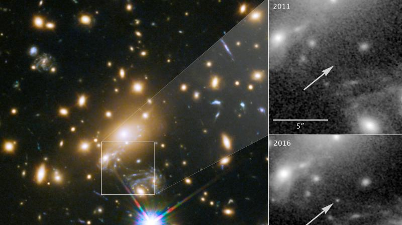 Because its light has taken so long to reach Earth, looking at this star is like peering back in time to when the universe was less than a third of its current age. (Photo: NASA)