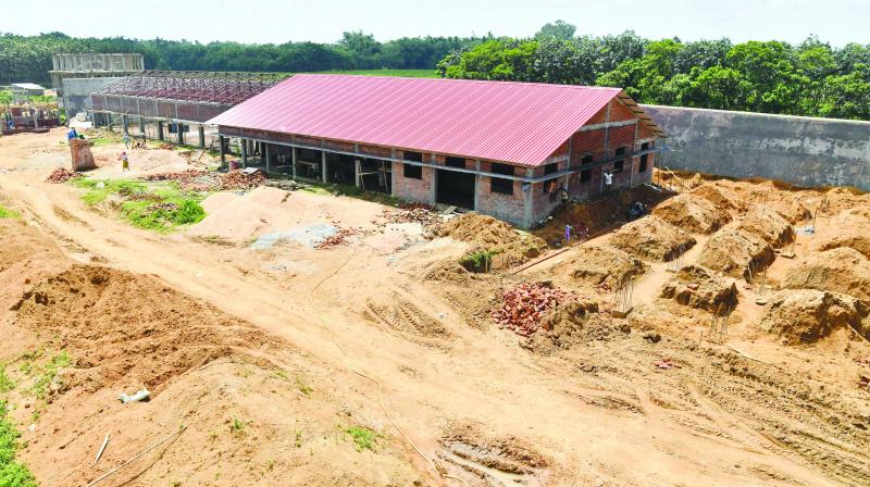 "This is a new detention centre being built for people who are not included in a ""citizens register"" in Kadamtola Gopalpur village, in Goalpara district, some 170km from Guwahati.   (Photo: AFP)"