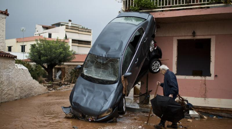 Officials blamed the disaster one of Greece's deadliest floods in decades on poor town planning and insufficient flood prevention measures, as much of the afflicted area had been built on filled-in torrent beds. (Photo: AP)