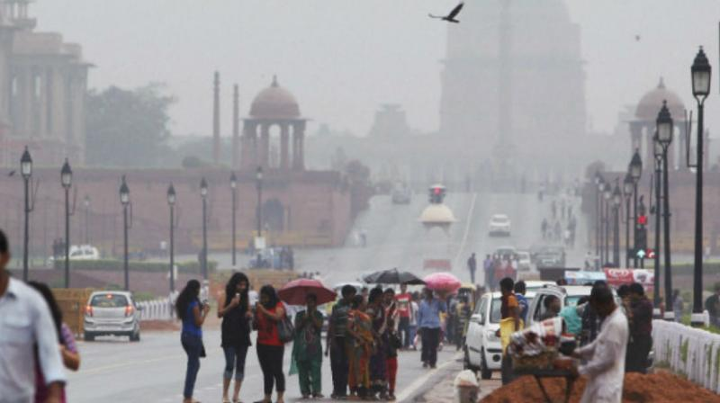 The national capital received 3.4 mm of rainfall till 8.30 am while only traces were recorded during the day. (Representational Image)