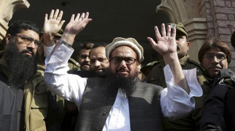 On January 31, Saeed and his four aides were detained by the Punjab government for 90 days under the Anti-Terrorism Act 1997 and the Fourth Schedule of Anti-Terrorism Act 1997. (Photo: File)