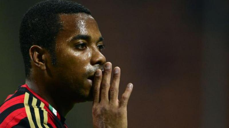 Robinho and five friends made the young woman drink 'to the point of making her unconscious and unable to resist.' They were then said to have engaged in 'sexual intercourse multiple times in a row' with her. (Photo: AFP)