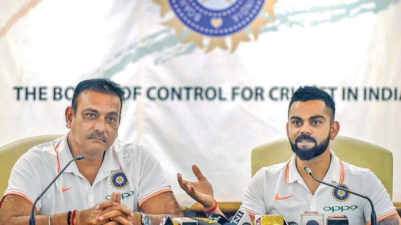 Ravi Shastri and Virat Kohli. (Photo: AP)