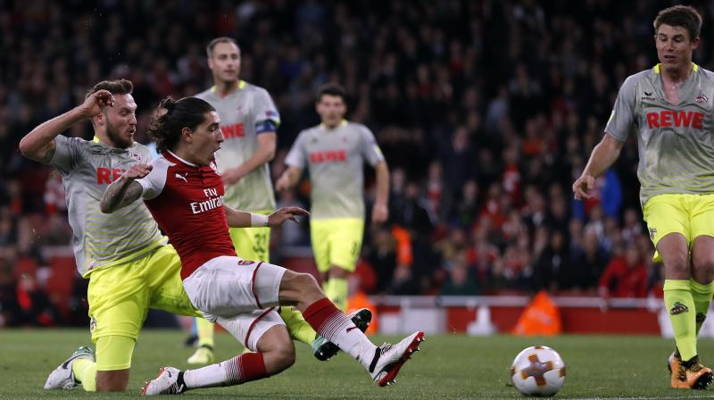 Arsenal recovered from a goal down to beat FC Cologne 3-1 after crowd disturbances in London. (Photo: AP)