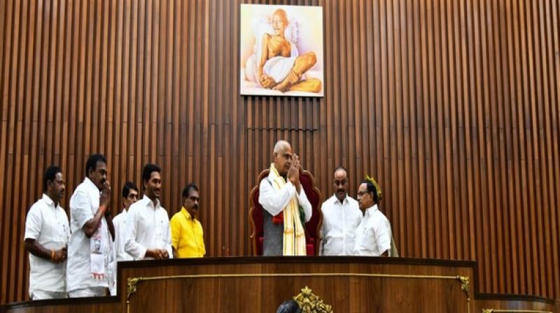 Andhra Pradesh Assembly. (Photo: ANI)