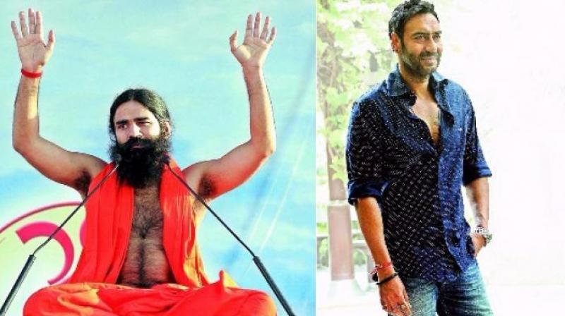 Baba Ramdev and Ajay Devgn