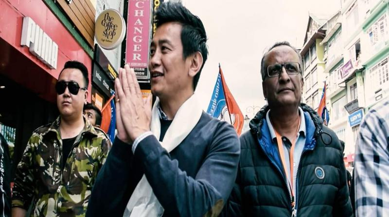 In May 2018, Bhutia ploughed his pitch in Sikkim's politics by launching Hamro Sikkim (Our Sikkim) Party. (Photo: Twitter)