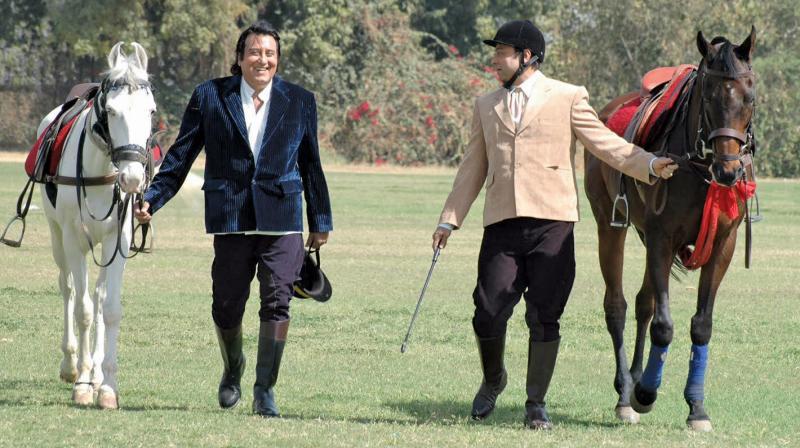 Vinod Khanna in a scene from Ek Thi Rani Aisi Bhi. The actor plays the Rajmata's husband in the film.