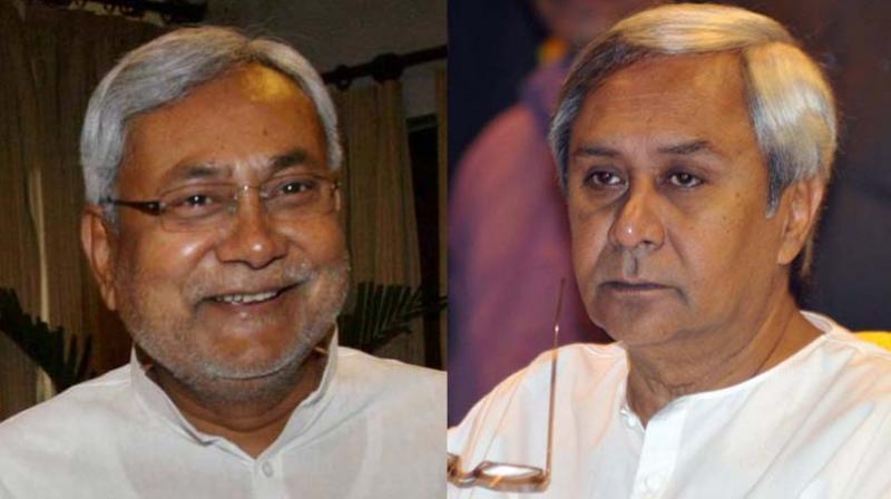 Bihar chief minister Nitish Kumar and Odisha chief minister Naveen Patnaik