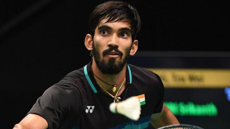 It was a nervy start for Srikanth in his campaign opener as he missed few points but his smart play at net and some precise smashes helped the Indian to enter the break at 11-6.(Photo: AFP)