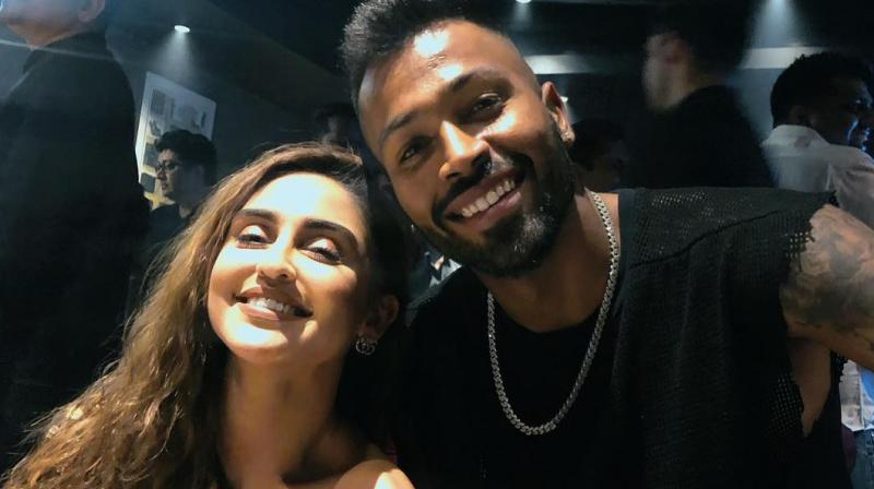 Krystal D'souza with Hardik Pandya. (Photo: Instagram)