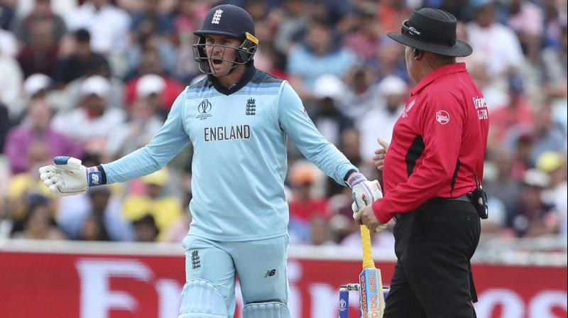Roy, who had struck a magnificent 85 in 65 balls, was given out caught behind off Pat Cummins, although television replays showed the ball had not touched his bat or glove. (Photo: AP)