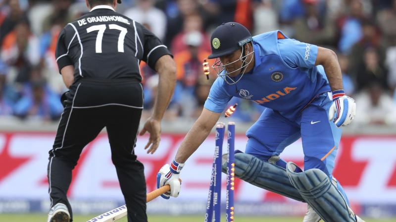 Guptil had endured a below-par World Cup with the bat before this run-out redeemed him to an extent. (Photo: AP)