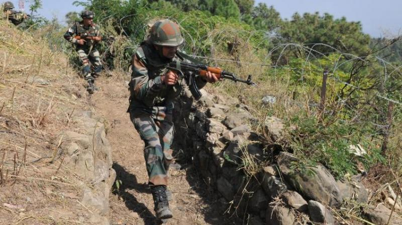 The Indian Army is retaliating effectively and the firing is still on, a Defence Spokesman said. (Photo: Representational/PTI)
