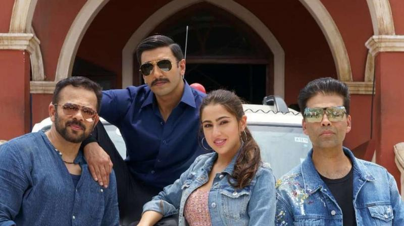 The Ranveer Singh-Sara Ali Khan film is the first time Rohit Shetty and Karan Johar have collaborated on a film.