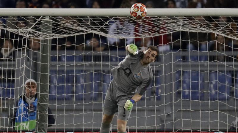 Casillas, a three-time Champions League winner with Madrid, is looking to lift the trophy for a fourth time as Porto face last year's runners-up Liverpool in the quarter-finals in April. (Photo: AP/PTI)