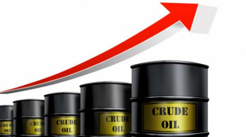 On the Multi Commodity Exchange, crude for September contracts went up by Rs 7, or 0.18 per cent, to Rs 3,906 per barrel.