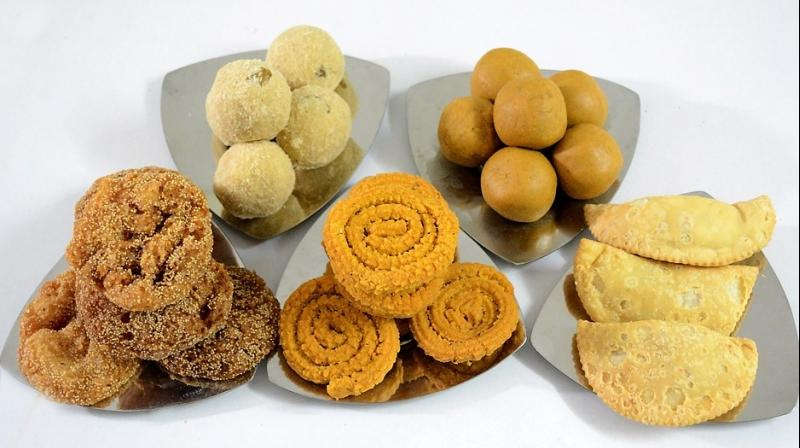 Different communities have their own ways of celebrating festivals by preparing their own special sweets.