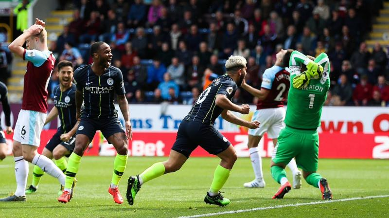 Pep Guardiola's side now need to win their final matches at home to Leicester City and away to Brighton and Hove Albion to retain the title and break the hearts of second-placed Liverpool who have tracked them all the way. (Photo: Manchester City Twitter)