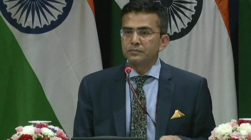 Ministry of External Affairs Spokesperson Raveesh Kumar, at a media briefing, also said that an Indian Air Force MiG-21 Bison, piloted by Wing Commander Abhinandan Varthaman, shot down a Pakistan Air Force F-16 fighter aircraft and there were eyewitness accounts and electronic evidence for it. (Photo: File)