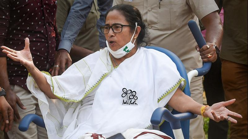 I will keep talking against the CRPF and BSF as long as they are with the BJP. Otherwise, I will salute them, says Mamata. — PTI file photo