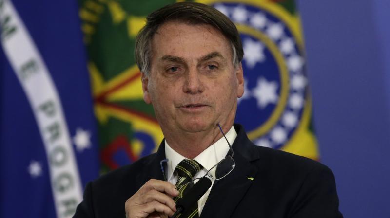 Brazil's President Jair Bolsonaro. (AP)