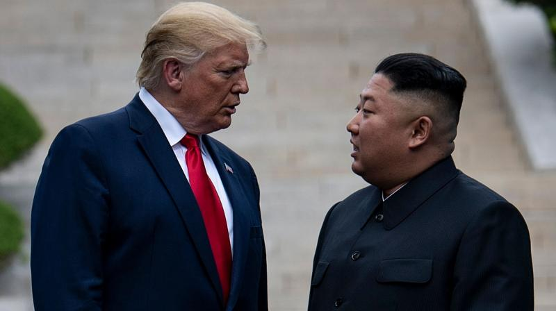 US President Donald Trump (left) and North Korea's leader Kim Jong Un. (AFP)