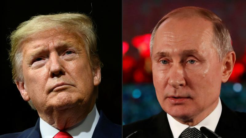 US President Donald Trump (left) and Russian President Vladimir Putin. (Photos by AFP)