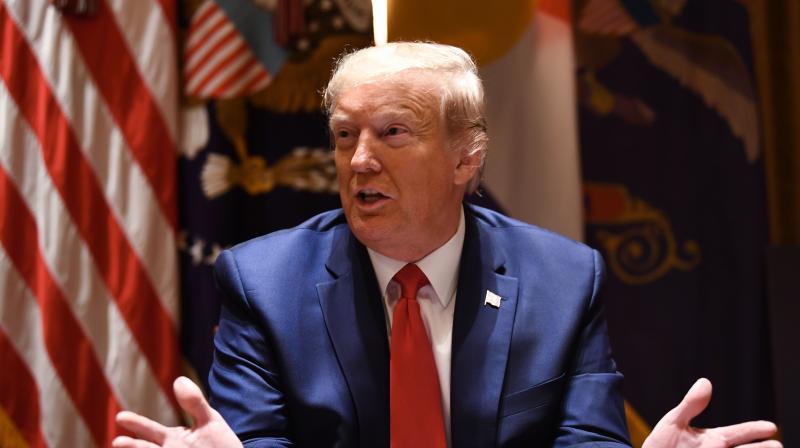 US president Donald Trump. (AFP)