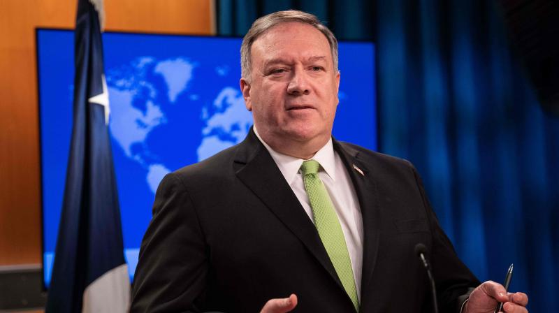 US Secretary of State Mike Pompeo speaks the press at the State Department in Washington. (AFP)