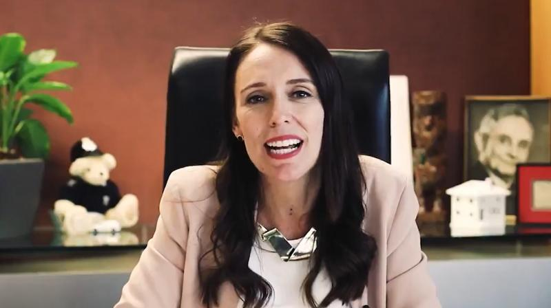 New Zealand PM Jacinda Ardern. (Screengrab of video shared by PM's official handle)