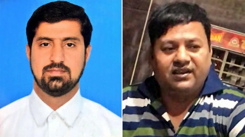 Abid Hussain and Muhammad Tahir, two officials of the Pakistan high commission who have been apprehended by Indian law enforcement authorities for carrying out espionage activities in the country. (PTI)