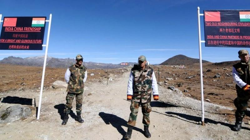 Indian soldiers keep watch at India-China border. (AFP)