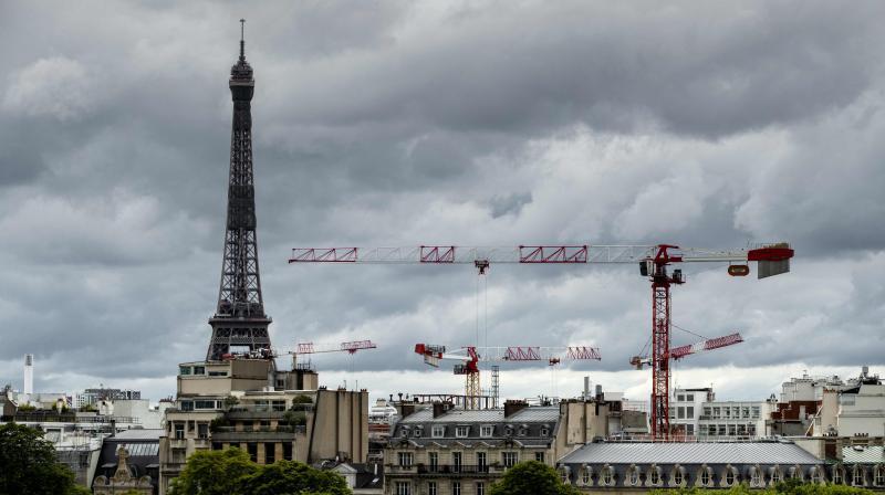 A long shot of Paris. (AFP)