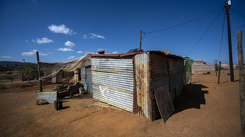 A rural village in the Moutse Valley, 160 kms (100 miles) north east of Johannesburg, South Africa, near the clinic where the Ndlovu Youth Choir waits to be processed for Covid-19 testing. (AP)