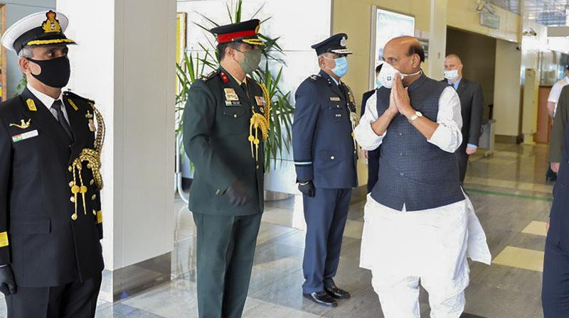Union Defence Minister Rajnath Singh on his arrival in Moscow for a three day visit. (Images released by: @DefenceMinIndia)