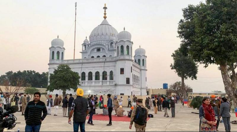 Shrine of Guru Nanak Dev in Kartarpur, Pakistan. (PTI)