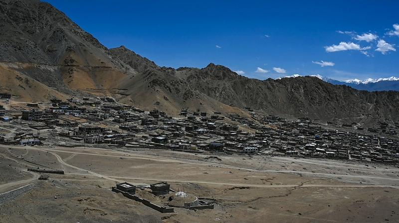 A general view shows Leh, the joint capital of the union territory of Ladakh. (AFP)