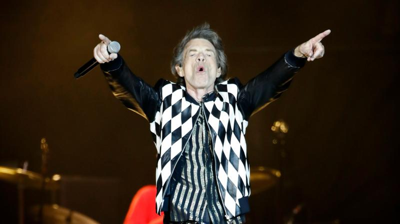 Mick Jagger of the Rolling Stones performs as they resume their