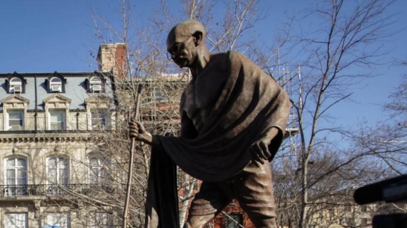Statue of Mahatma Gandhi in Washington, DC. (Photo: courtesy Indian Embassy)
