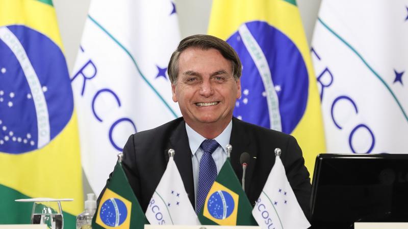 Handout picture released by Brazil's Presidency showing Brazilian President Jair Bolsonaro. (AFP)