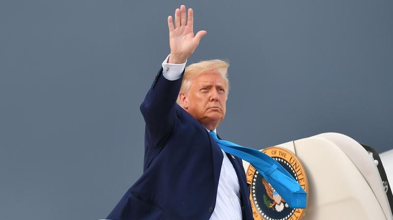 US President Donald Trump. Many who have placed their bets on Trump now are hoping for a repeat of 2016, when the Manhattan real estate mogul staged a stunning comeback against Democratic challenger Hillary Clinton to win the White House.(AP)