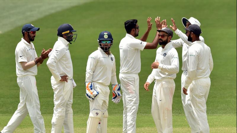 Ashwin was aided well by the pace duo of Jasprit Bumrah (2/34) and Ishant Sharma (2/31). (Photo: AFP)