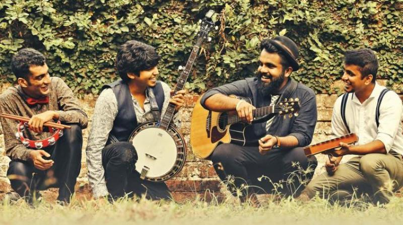 The band was formed when the members met for a jamming session at Fort Kochi.