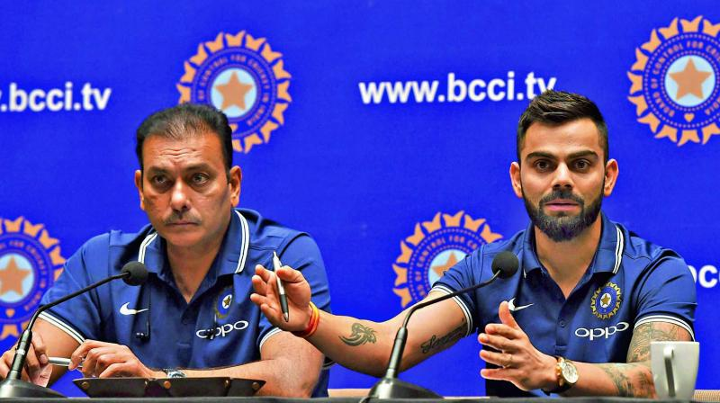 Reports have been swirling around that Vinod Rai, head of the Committee of Administrators, will ask for explanations from head coach Ravi Shastri and captain Virat Kohli, about India's debacle in the World Cup semi-final against New Zealand. (Photo: PTI)
