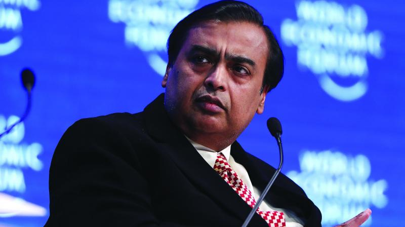 Jio will also invest and financially support those startups that have the potential to address India's big needs in agriculture, healthcare, education and skill development which will boost the creation of new livelihoods, said Reliance's Mukesh Ambani.  (Photo: File)