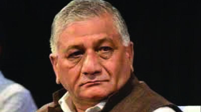 File image of Union Minister Gen VK Singh.