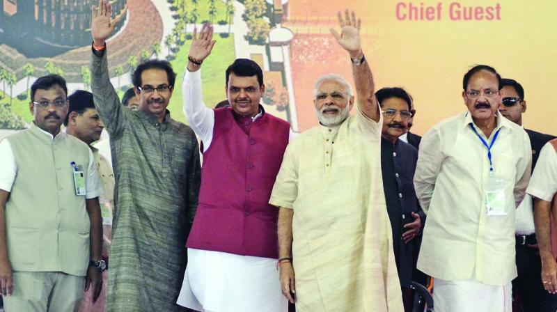 The pm addressed a rally in Nanded where the state Congress president Ashok Chavan is contesting against BJP's Pratap Chikhalikar.